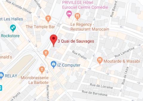 Plan d'accès Cabinet Maître KOUAHOU Avocat à Montpellier